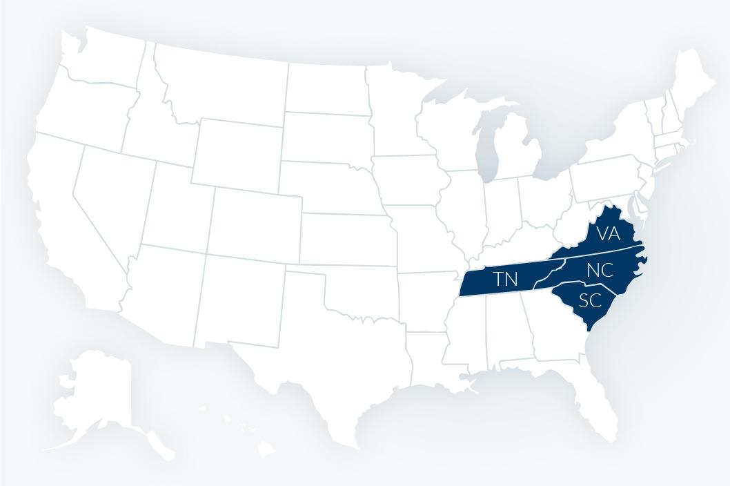insurance-recruiting-southeast-map